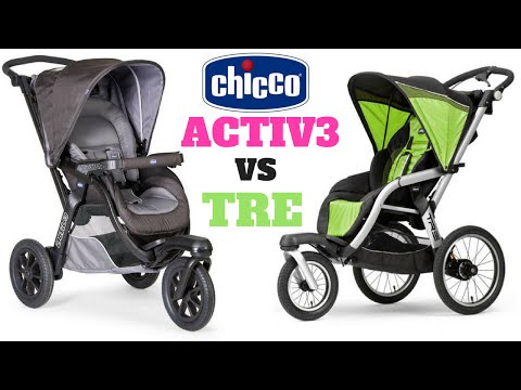 Chicco Active vs Tre Jogging Stroller Comparison Review [ Family Encore