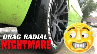 Can You? Is It Safe? Driving Mickey Thompson ET Street SS Drag Radials In The Rain