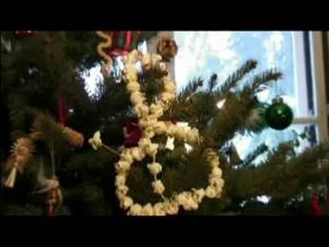 Popcorn Christmas Garland : Hanging Popcorn Christmas Tree Decorations