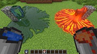 realistic lava vs water in minecraft