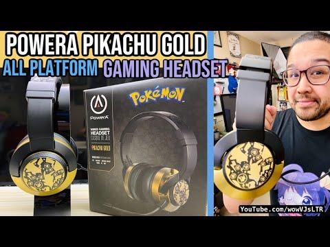 PowerA Pokemon Pikachu Gold Headset (Works on All Platforms) | Best Budget Gaming Headset Under $40