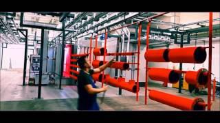 ELBOY Bara Aktarmalı Elektrostatik Toz Boya Tesisi | Bar Transfer Powder Coating System