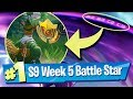 Fortnite Season 9 Week 5 Loading Screen Battle Pass Star Location