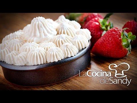 Crema chantilly o nata más firme en recetas de postres faciles