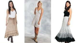 Cool Cowgirl Dresses And Skirts For Celebration