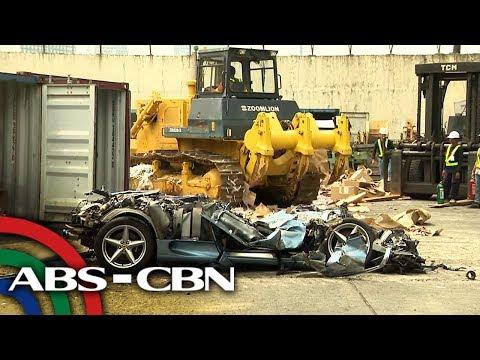 Smuggled sports car, winasak ng Customs | News Patrol