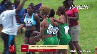 Women 4x400m Relay Final - African Senior Championships Asaba 2018