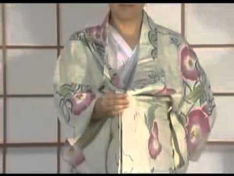 How To Dress Yukata & Kimono Part1 by ICHIROYA COM