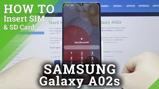 How to Insert SIM & SD Cards in SAMSUNG Galaxy A02s – SIM & SD Installation