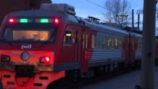Новый Электропоезд ЭТ4А отпр. с Балтийского вокзала СПБ-Луга РЖД