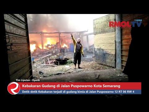 BREAKING NEWS, Kebakaran Gudang di Jalan Puspowarno Kota Semarang