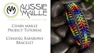Chain Maille Tutorial - Chasing Rainbows Bracelet