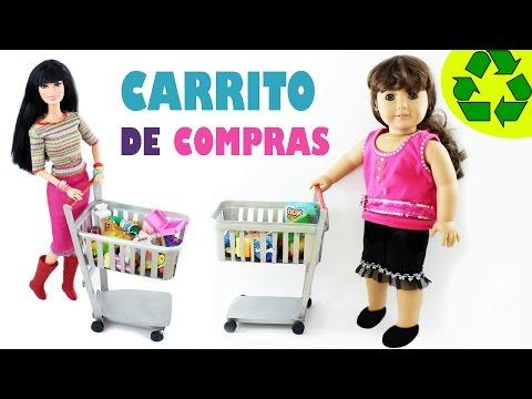 Cómo hacer un carrito de compras Funcional para tus muñecas - Manualidades para muñecas