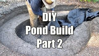 DIY Backyard Pond Build! Part 2 | Installing The Underlayment & Pond Liner
