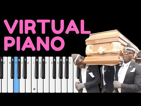 Coffin Dance on Virtual Piano + Sheets (EASY)