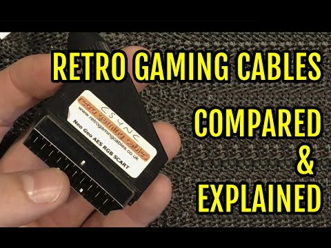 Retro Gaming Cables Comparision Explained RGB Cable RGB SCART s-video Component Composite