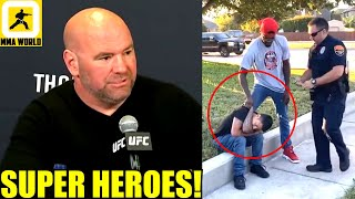 Dana White reacts to UFC Middleweight Kevin Holland chasing and stopping an alleged car thief, TJ