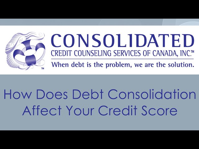 How Does Debt Consolidation Affect Your Credit Score?
