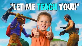 MOST ADORABLE KID TEACHES ME HOW TO PLAY FORTNITE! (He