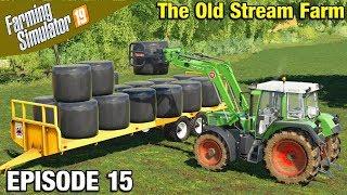 MAKING SILAGE Farming Simulator 19 Timelapse - Oakfield Farm