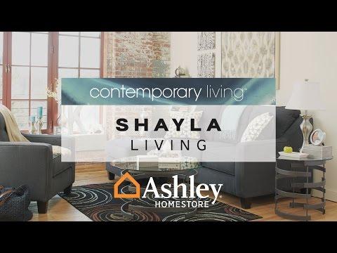 Dark Gray Shayla Sofa Chaise View 4 Video
