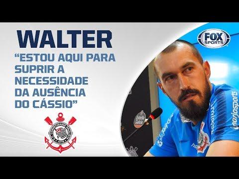 CORINTHIANS AO VIVO! O goleiro Walter concede entrevista coletiva  no CT Joaquim Grava