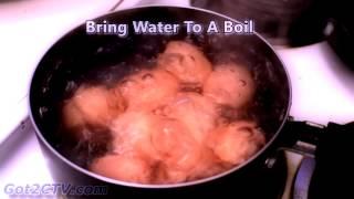 How Long To Boil Eggs. Hard Boiled.