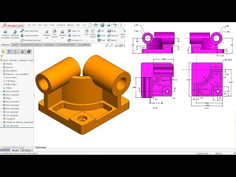 SolidWorks Tutorial for beginners CSWA Exercise 59 - YouTube