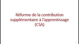 Replay Réunion actualité mai 2021 – Réforme de la contribution supplémentaire à l'apprentissage