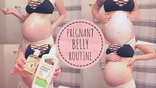 MY PREGNANT BELLY ROUTINE | How I'm Preventing Stretch Marks