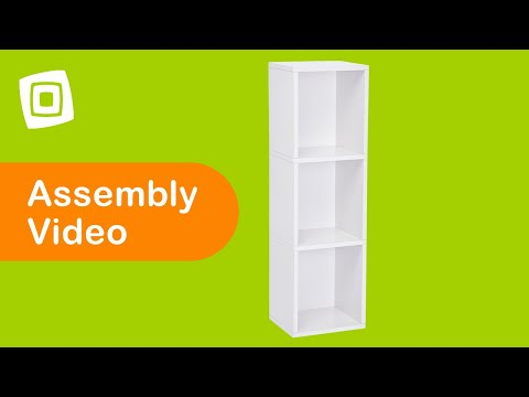 Video for Eco Friendly White Modular Storage Triple Cube Plus