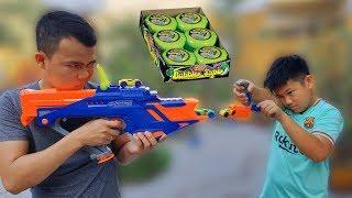 Trò Chơi Bé Doli Nerf War Hubba Bubba ❤ChiChi Toysreview TV❤ Đồ Chơi Baby Fun Song