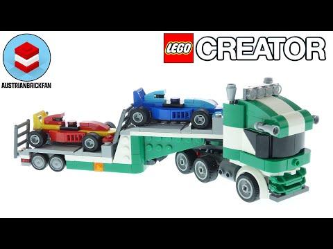 Vidéo LEGO Creator 31113 : Le transporteur de voitures de course
