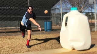 Throwing Baseballs At Random Objects! *HUGE MESS* IRL Challenge