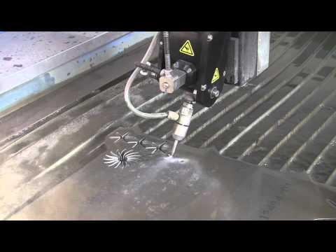 5-axis waterjet - turbine cutting