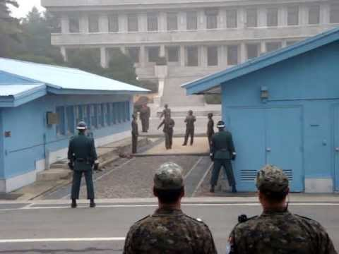 DMZ weird moment North Korean DPRK soldi