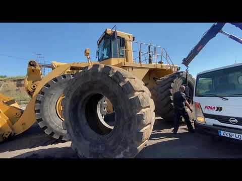 Changing Tires on Massive Caterpillar Machines