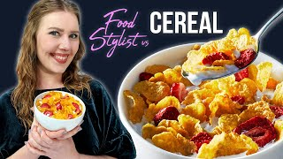 How A Food Stylist Styles A Bowl Of Cereal...Without Glue Or Milk! | Tricks Advertisers Use And More