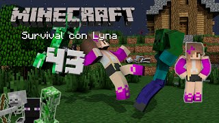 La cacería con Dolly Jr. | Minecraft: Survival con Lyna #43