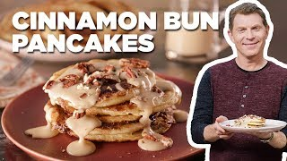 Cinnamon Bun PANCAKES With Bobby Flay | Food Network