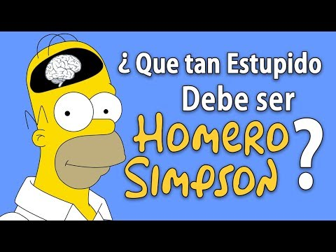 ¿Que tan Estúpido debe ser Homero Simpson? - Inspector Geek