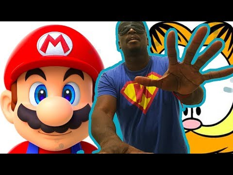 THE BIRDBOX DRAWING CHALLENGE!!!  I draw Mario and Garfield while I'm Blindfolded!!
