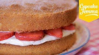 Classic Victoria Sponge Cake Recipe | Cupcake Jemma