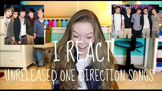 I REACT: Unreleased One Direction Songs