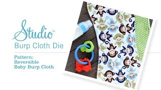 How To Make The Studio Reversible Baby Burp Cloth