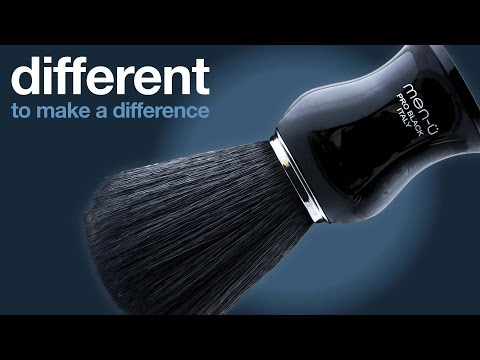 men-ü different to make a difference - PRO BLACK shaving brush