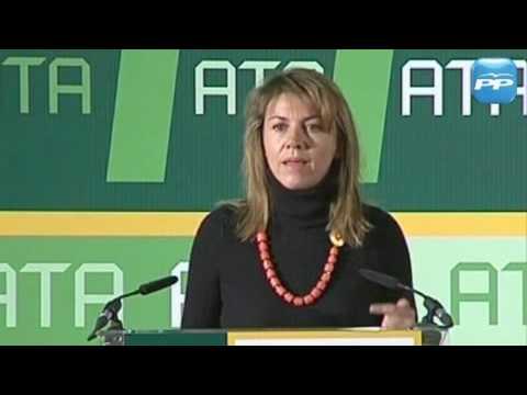 Mª Dolores de Cospedal inaugura la Asamblea General de las Elecciones de ATA