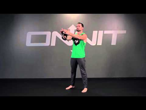 Two Hand Kettlebell Straight Press