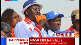 Raila Odinga leads NASA team in campaigns at Kibra-Nairobi (Full Campaign)