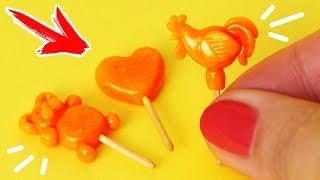 🌟ЛЕДЕНЦЫ для КУКОЛ 😍 ПЕТУШОК НА ПАЛОЧКЕ !!! 💖 ЕДА для кукол 😍 FIMO Мастер класс Анна Оськина